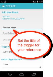 LIFTTT trigger title