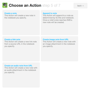 Evernote IFTTT action