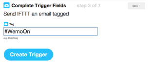 IFTTT Email trigger label